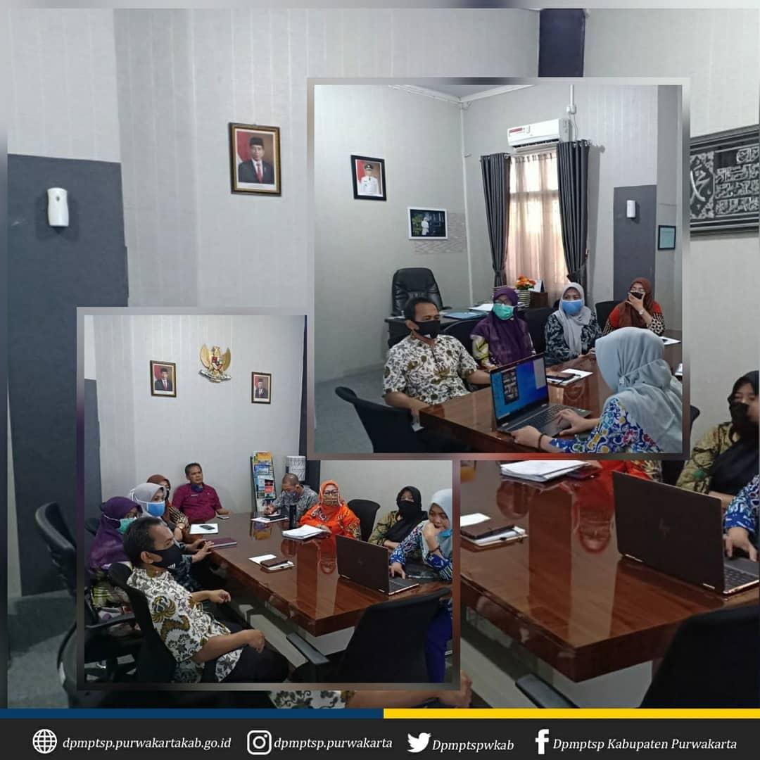 Rapat Koordinasi Sinergitas dan Sinkronisasi Penyelenggaraan Penanaman Modal dan Pelayanan Terpadu Satu Pintu di Wilayah Provinsi Jawa Barat via Zoom Meeting