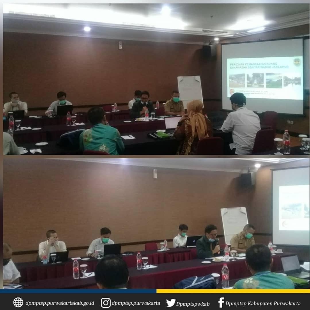 Fokus Group Discussion Kajian Teknis Pelaksanaan Pengendalian dan Penertiban Pemanfaatan Ruang Kawasan Sekitar Waduk, Sutet dan PLTU diselenggarakan oleh Kementrian ATR/BPN bertempat di Golden Boutique Hotel Melawai Jakarta