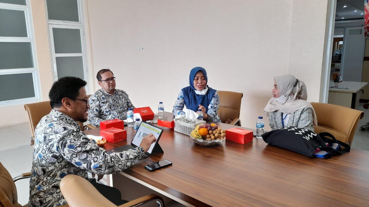 Menerima Kunjungan dari Tim Verifikasi Lapangan dalam rangka Penilaian Kinerja PTSP dan PBB Pemda Tahun 2021