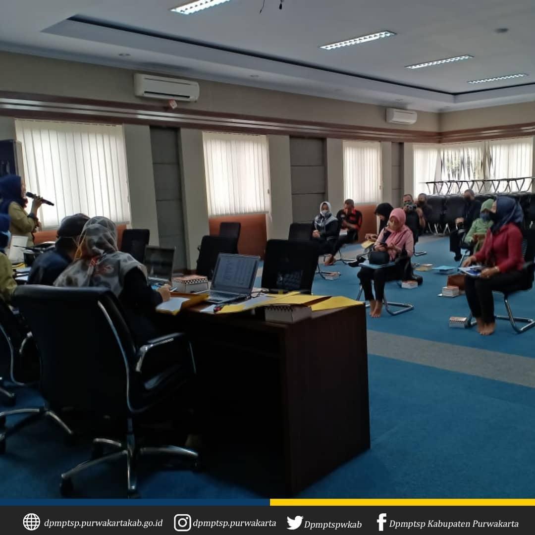 Rekon Pendapatan Triwulan I Tahun 2020 di Aula Bapenda Kab. Purwakarta