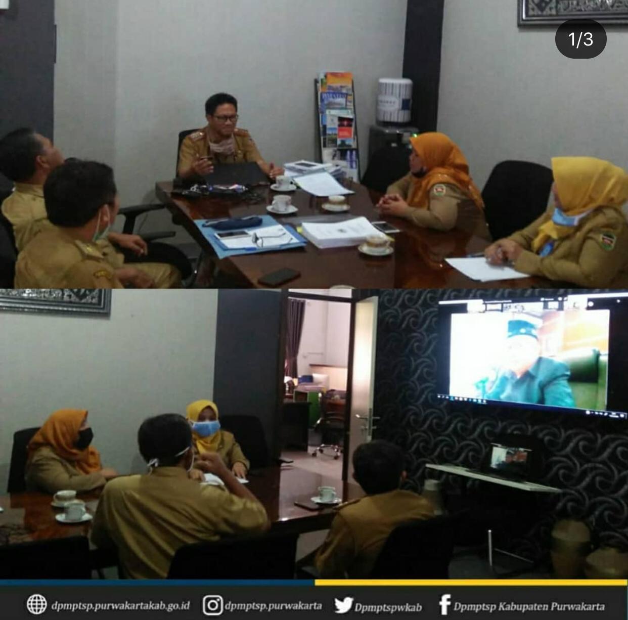 Rapat Paripurna DPRD tentang Penyampaian Laporan Keterangan Pertanggung Jawaban (LKPJ) Bupati Akhir Tahun 2019 di Ruang Kepala DPMPTSP Purwakarta.