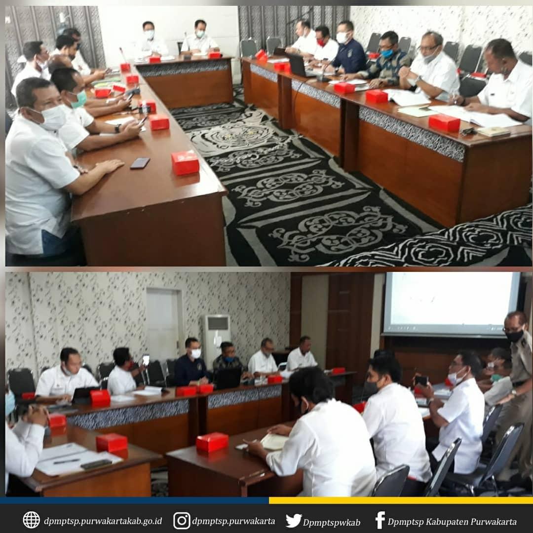 Rapat Pembahasan Permohonan Pengalihan Jalan an. PT. MOS bertempat di Aula DPMPTSP Kab. Purwakarta